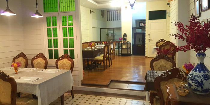 The Dining Room from Yung Siam Thai Cuisine at 153 Soi Lumpoo Wat Sampraya, Pranakorn Bangkok