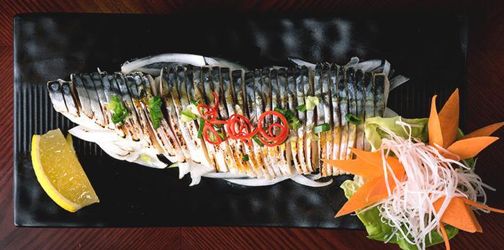 Seared Mackerel Marinated with Vinegar from Q-WA Izakaya at Marrison Hotel Lobby in Bugis, Singapore