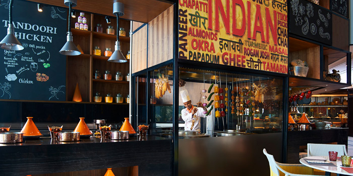 Indian Section Station from Amaya Food Gallery at Amari Watergate Bangkok Hotel 847 Phetchaburi Road Makkasan, Ratchathewi Bangkok