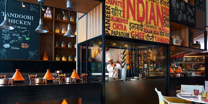 Indian Section Station from Amaya Food Gallery at Amari Watergate Bangkok Hotel 847 Phetchaburi Road Makkasan, Ratchathewi Bangkok