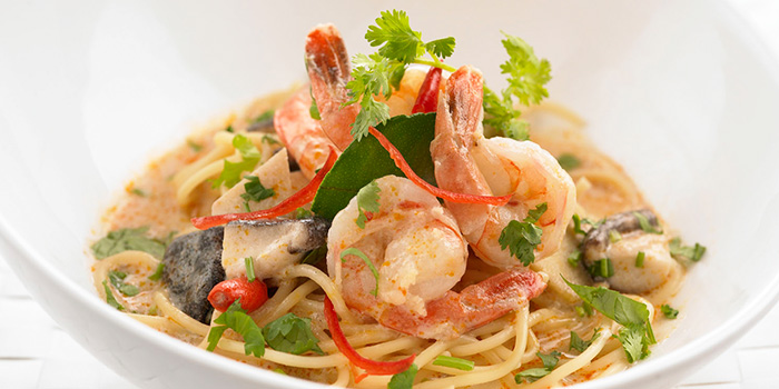 Spaghetti with Prawn in Coconut Sauce from Bangkok Jam (Bugis+) in Bugis, Singapore