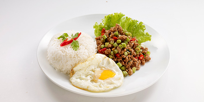 Stir Fried Minced Chicken Basil from Bangkok Jam (Bugis+) in Bugis, Singapore