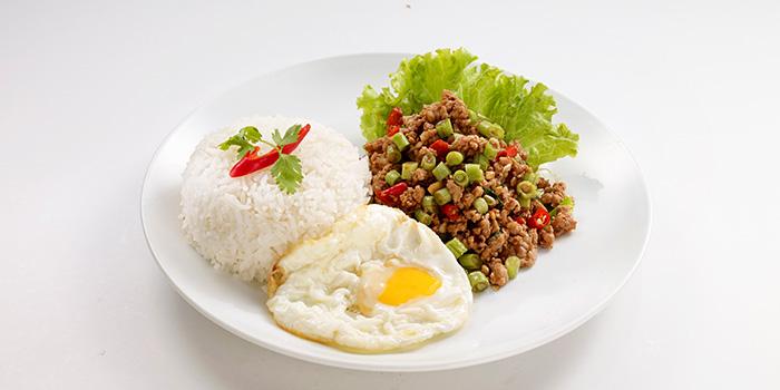 Stir Fried Minced Chicken Basil from Bangkok Jam (Bugis+) in Bugis, Singapore