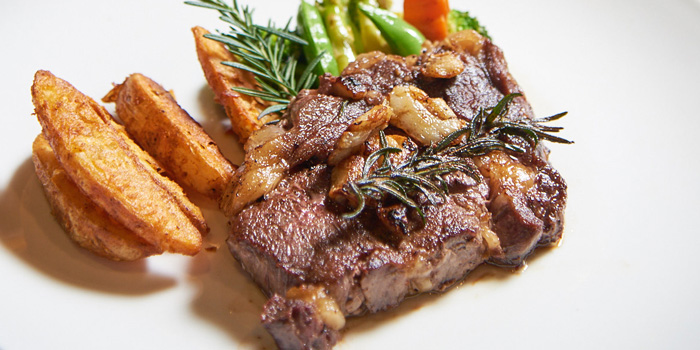Beef Steak from Why Here Bar & Bistro at 1839/9 Phaholyothin Rd. Ladyao, Chatuchak Bangkok