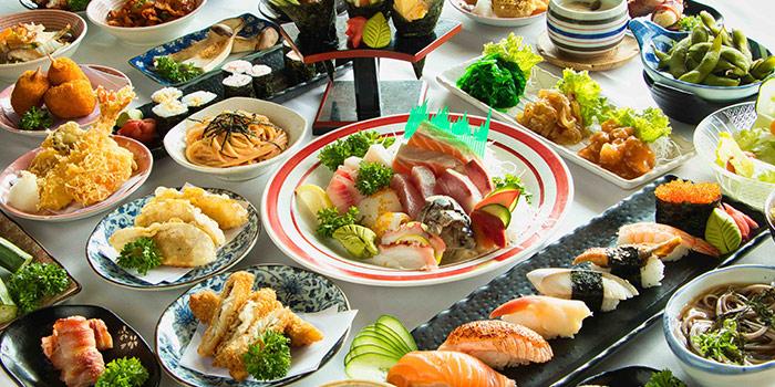 Buffet Spread from Mitsuba Japanese Restaurant in Clarke Quay, Singapore
