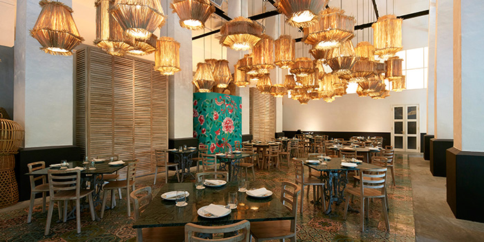 Interior of Candlenut in Dempsey, Singapore
