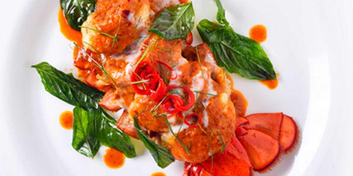 Curry Paste Topped Lobster from Air Space Bangkok at Unit G208, 2nd Floor Groove Zone, CentralWorld Pathumwan Bangkok