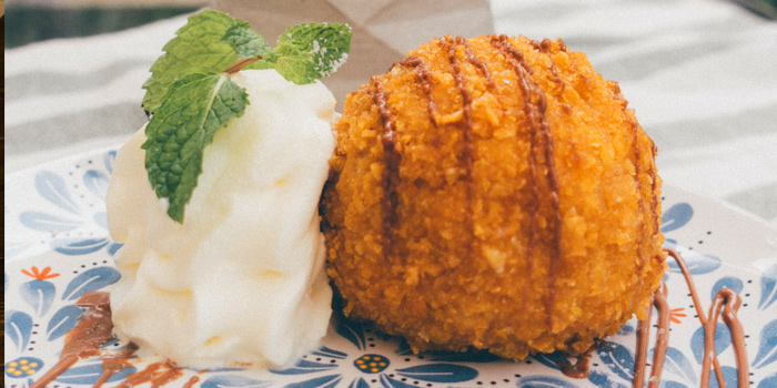 Deep Fried Ice Cream from Slanted Taco at 16 Sukhumvit Soi 23 Khlong Toei Nuea Bangkok