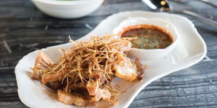Deep Fried Pork Belly from NYE Cafestaurant at 2/1 Soi Chiangmai 1 Chiangmai Road Klongsarn Bangkok