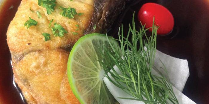 Deep Fried Sea Bass Dressed from NYE Cafestaurant at 2/1 Soi Chiangmai 1 Chiangmai Road Klongsarn Bangkok