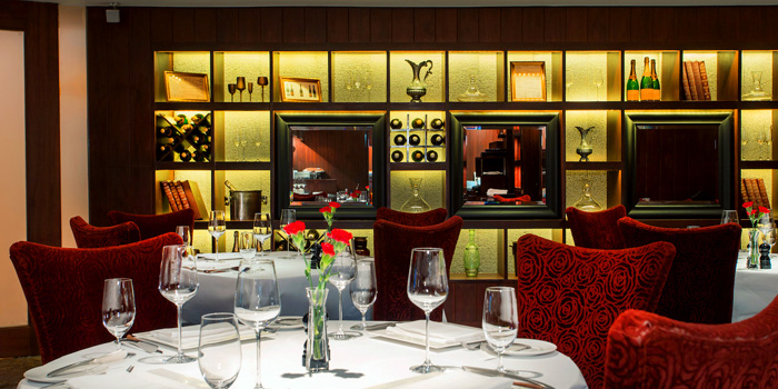 Dining Area of Fireplace Grill and Bar Restaurant at InterContinental, Bangkok