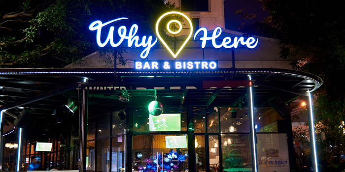 Entrance from Why Here Bar & Bistro at 1839/9 Phaholyothin Rd. Ladyao, Chatuchak Bangkok