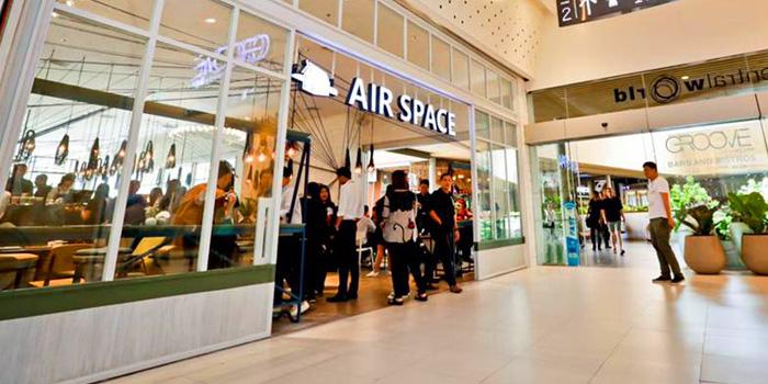 Entrance of Air Space Bangkok at Unit G208, 2nd Floor Groove Zone, CentralWorld Pathumwan Bangkok