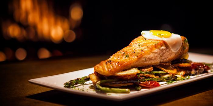 Grilled Scottish Salmon from Pimenton Restaurant at 35 Sukhaphiban 2 Road Prawet district Bangkok