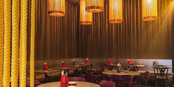 Interior of alittle tashi in Jalan Besar, Singapore