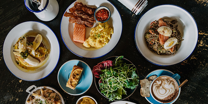 Food Spread from The Lokal in Chinatown, Singapore