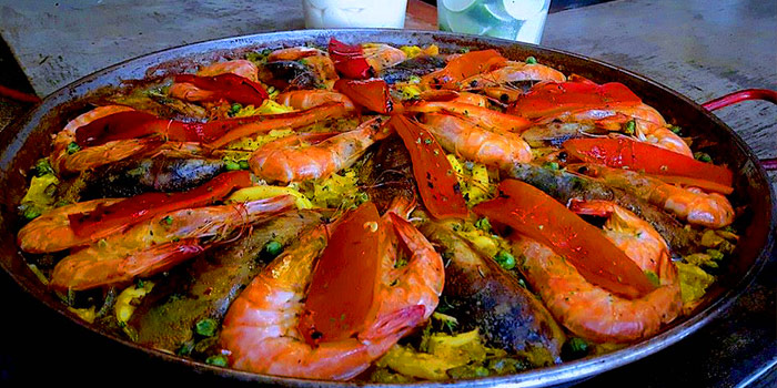 Paella De Marisco from Pimenton Restaurant at 35 Sukhaphiban 2 Road Prawet district Bangkok