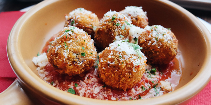 Arancini from Peperoni Pizzeria along Zion Road in River Valley, Singapore