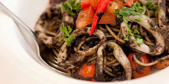Squid Ink Pasta from Peperoni Pizzeria in Biopolis in Buona Vista, Singapore