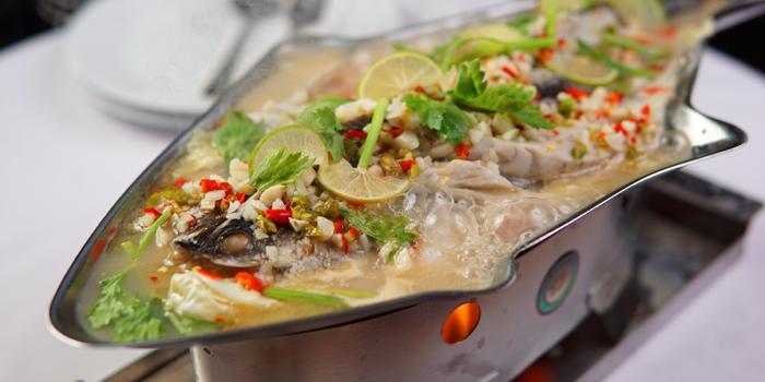 Pla Kaphong Ning Manao from SN Bar&Kitchen at B1 Verng Boran Ekamai Soi 10 Sukhumvit 63 Road Bangkok