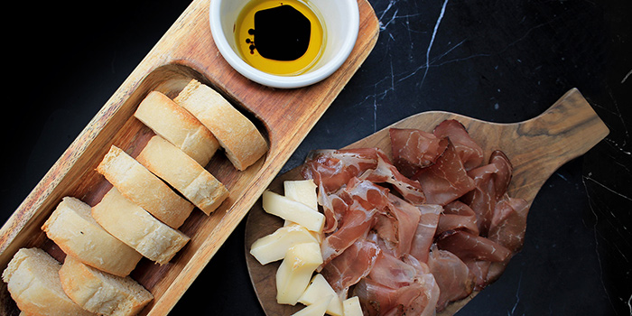 4. Rustic Bread, EVOO & Balsamic AND Homemade Salami Platter from SONS in Chinatown, Singapore