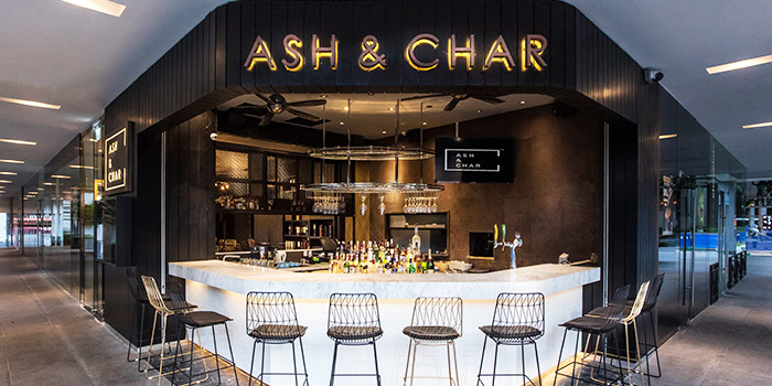 Exterior of Ash & Char in Tanjong Pagar, Singapore