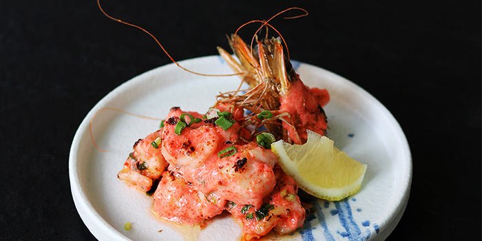 Mentaiko Tiger Prawn from Bao Makers in Chinatown, Singapore