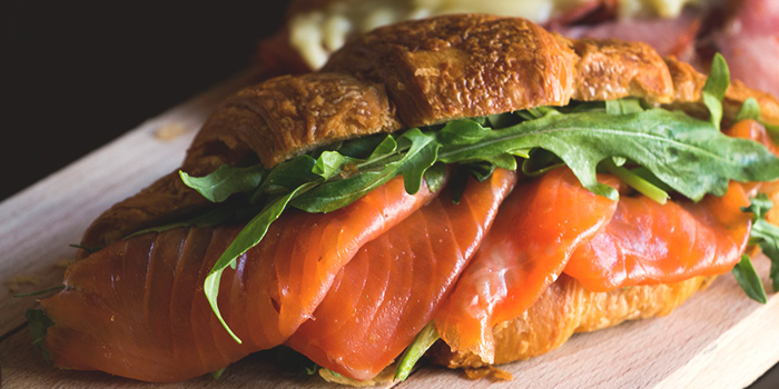 Smoked Salmon Croissant from Club Meatballs in Chinatown, Singapore