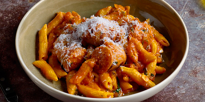 Penne and Sausage with Red Sauce from Cook & Brew at The Westin Singapore in Marina Bay, Singapore