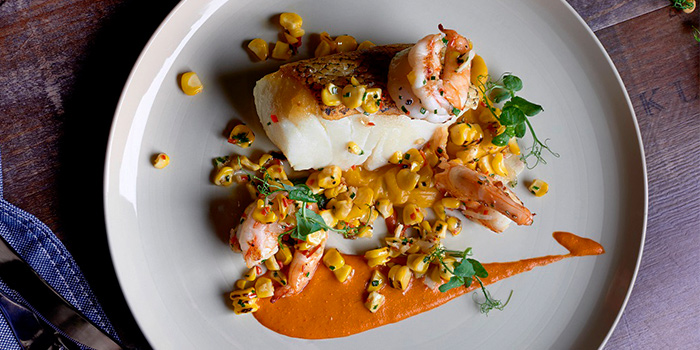 Roasted Arctic Cod from Cook & Brew at The Westin Singapore in Marina Bay, Singapore
