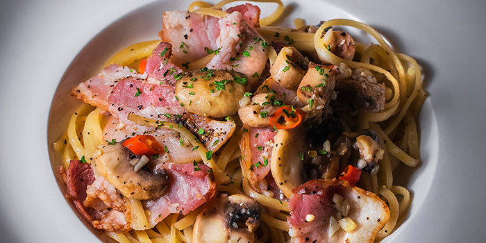 Bacon Aglio Olio from Drink Culture in Chinatown, Singapore