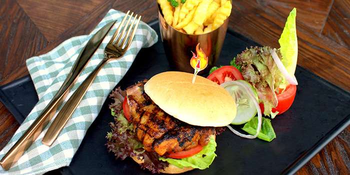 Burger from Flaming Spice in Pasir Ris, Singapore