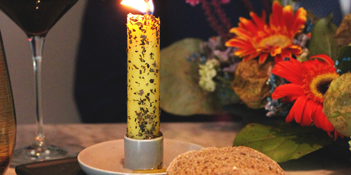 Edible Candle from Grissini at Grand Copthorne Waterfront Hotel in Robertson Quay, Singapore