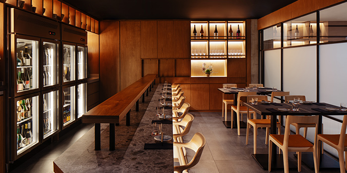 Interior of Jinjo at Shaw Centre in Orchard, Singapore