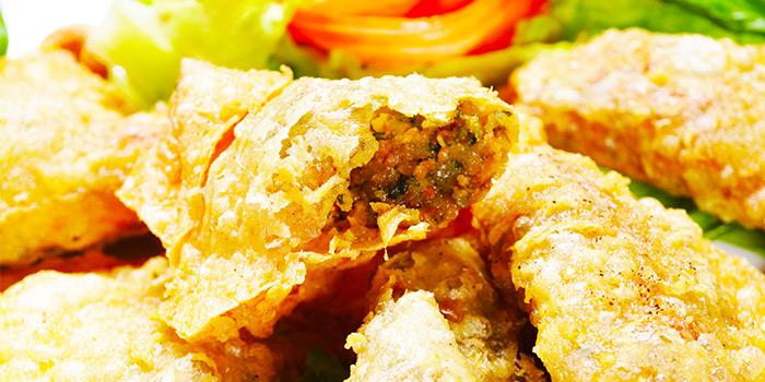 Pesto Wanton from New Fut Kai Vegetarian 新佛界素食 in Jalan Besar, Singapore