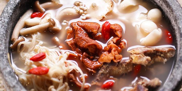 Red Fungus Dangui Soup from New Fut Kai Vegetarian 新佛界素食 in Jalan Besar, Singapore