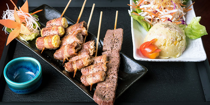Beef Yakitori Set from Q-WA Bar and Yakitori in East Coast, Singapore