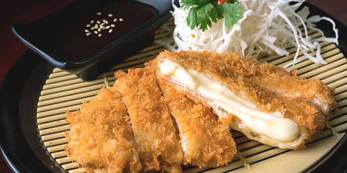 Pork Cutlet with Cheese from Q-WA Izakaya at Marrison Hotel Lobby in Bugis, Singapore