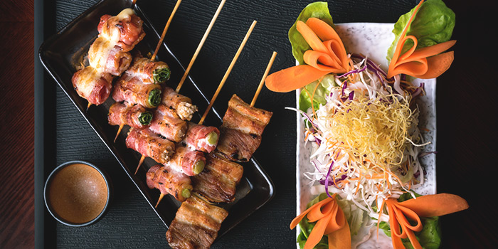 Pork Yakitori Set from Q-WA Izakaya at Marrison Hotel Lobby in Bugis, Singapore