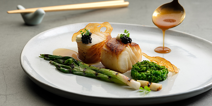 Baked Tamari Butter Cod from Racines at Sofitel in Tanjong Pagar, Singapore