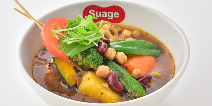 Vegetarian Dish from Suage at Capitol Piazza in City Hall, Singapore