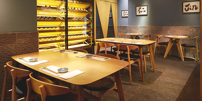 Interior of Sushi Jin at Owen Link in Little India, Singapore