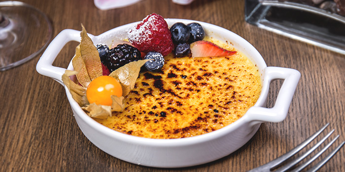 Creme Brulee from The RANCH Steakhouse By ASTONS on River Valley Road in Clarke Quay, Singapore