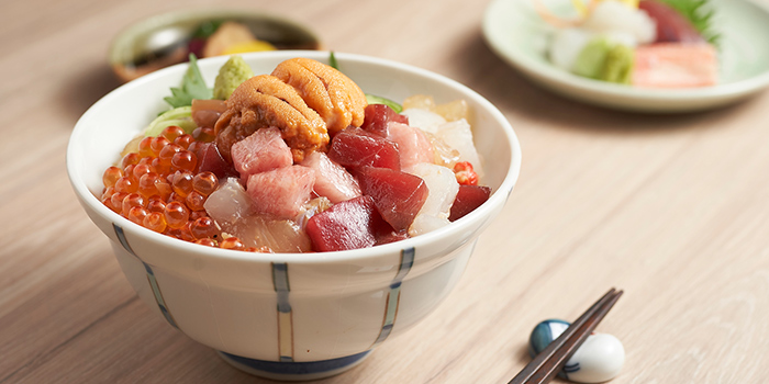 Uni Bara Chirashi Don from YOSHI Restaurant at Forum The Shopping Mall in Orchard, Singapore