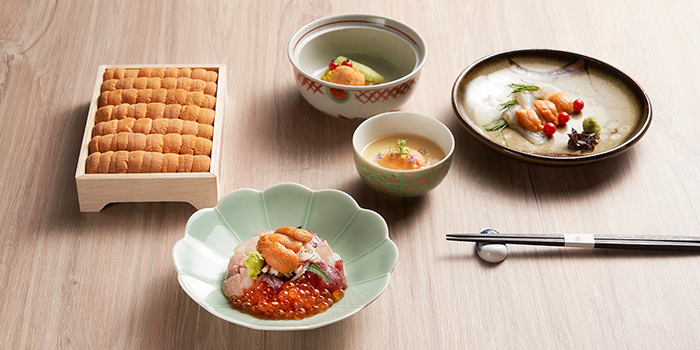Uni Spread from YOSHI Restaurant at Forum The Shopping Mall in Orchard, Singapore