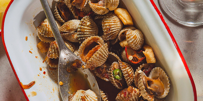 Sauteed Blood Cockles from alittle tashi in Jalan Besar, Singapore