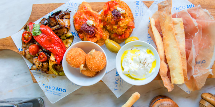 Selection of Food from Theo Mio Restaurant at InterContinental, Bangkok