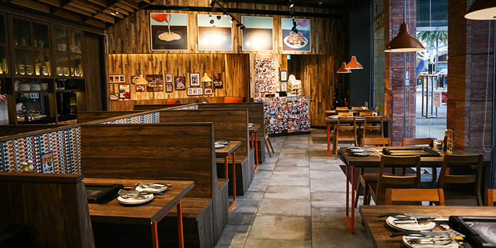 Interior of Slappy Cakes (Resorts World Sentosa) in Sentosa, Singapore