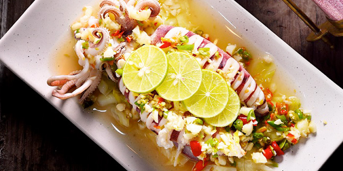 Steamed Egged Squid with Spicy Lime from Air Space Bangkok at Unit G208, 2nd Floor Groove Zone, CentralWorld Pathumwan Bangkok