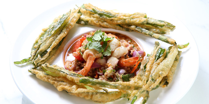 Yum Pak Bung Kob from Baan Restaurant at 139/5 Witthayu Rd Lumphini, Patumwan Bangkok